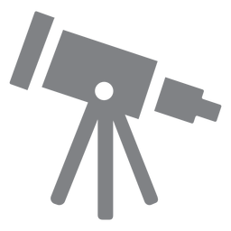 School telescope flat icon