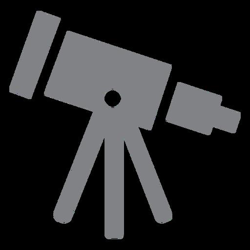 School telescope flat icon
