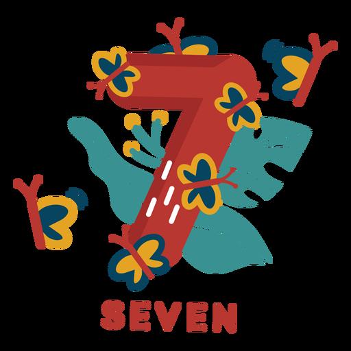 Seven butterflies number