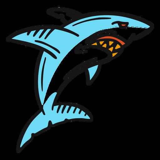 Shark vintage tattoo