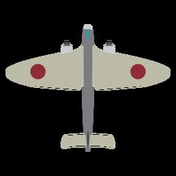Icono de avión militar simple