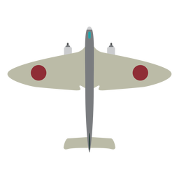 Simple military aircraft icon
