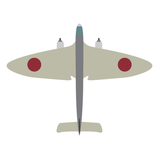 Icono de avión militar simple Transparent PNG