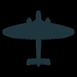 Silhueta simples de aeronaves militares