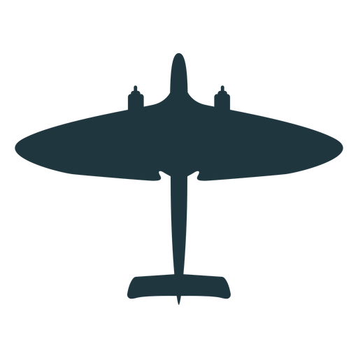 Simple Military Aircraft Silhouette Transparent Png Svg Vector