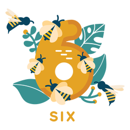 Six bees number