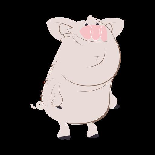 Smiley Schwein Charakter Cartoon - Transparenter PNG und