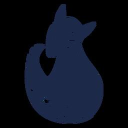 Silhueta de arte folclórica de raposa de neve