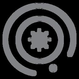Icono plano del sistema solar