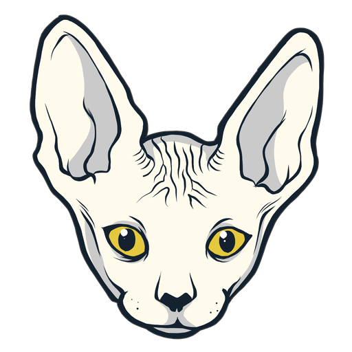 Sphynx cat head hand drawn Transparent PNG