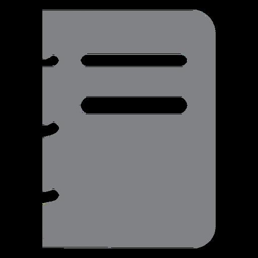 Escuela de icono plano de cuaderno espiral Transparent PNG