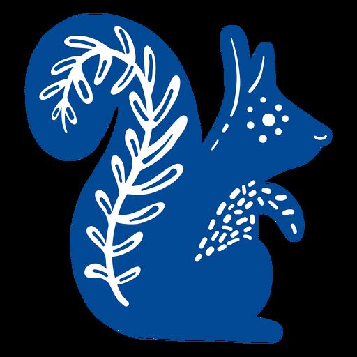 Squirrel folk art element Transparent PNG