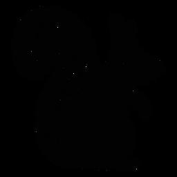 Silhueta de elemento de arte folclórica de esquilo