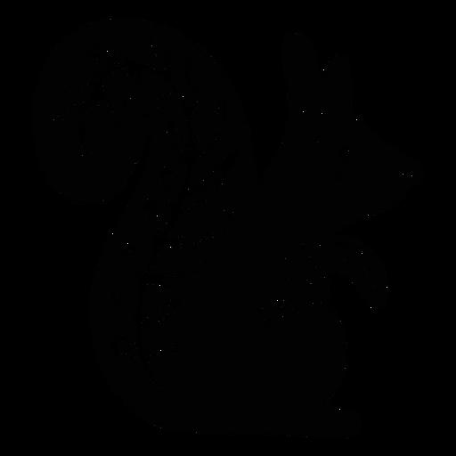 Squirrel folk art element silhouette Transparent PNG