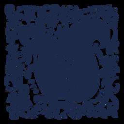 Silhueta floral de arte folclórica de esquilo