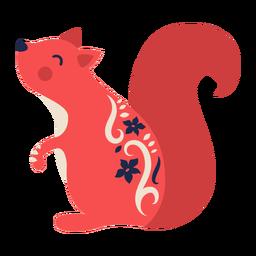 Ornamento de arte popular de esquilo