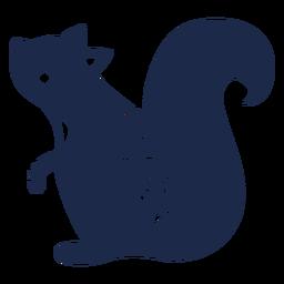 Silhueta de ornamento de arte popular de esquilo