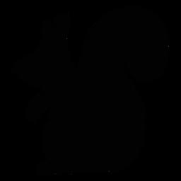 Silhueta de arte popular de esquilo