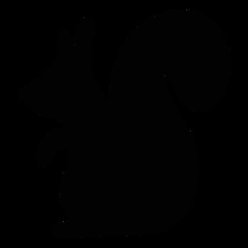 Squirrel folk art silhouette