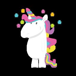 Starry unicorn illustration