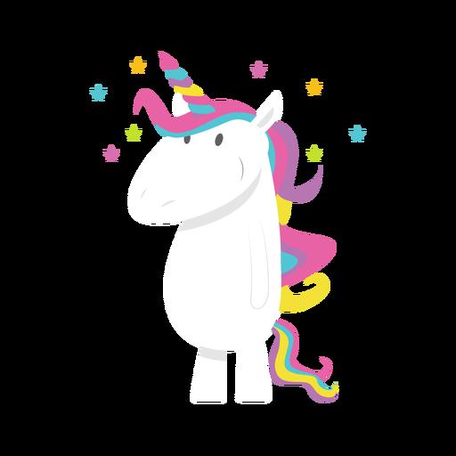 Ilustración de unicornio estrellado