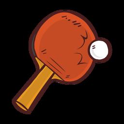 Dibujos animados de bate de tenis de mesa