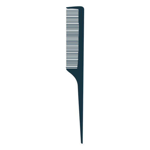 Tail comb silhouette