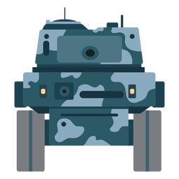 Tank fighting vehicle front view