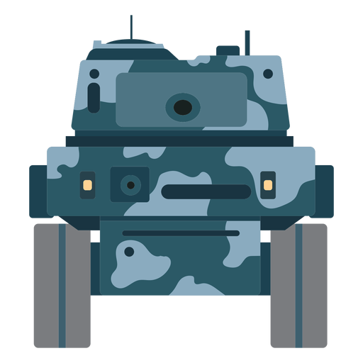 Tank fighting vehicle front view Transparent PNG
