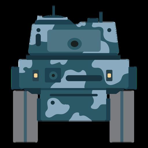 Vista frontal del vehículo de combate de tanques