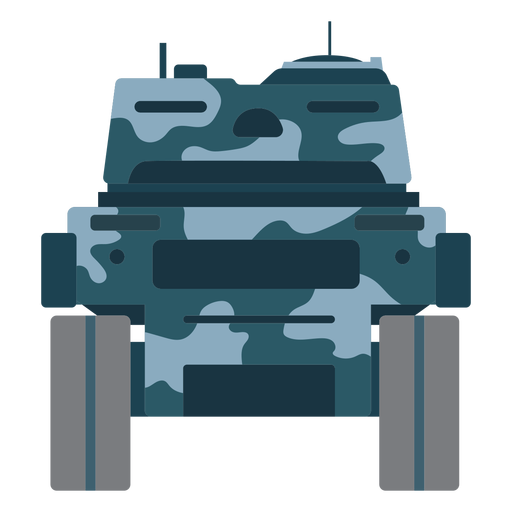 Tank fighting vehicle rear view Transparent PNG