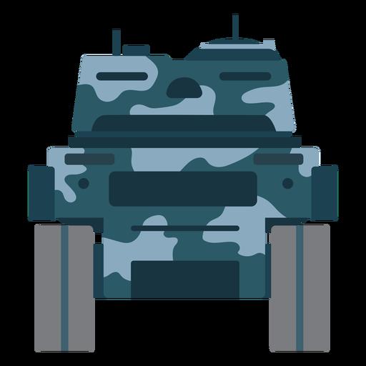 Vista trasera del vehículo de combate de tanques