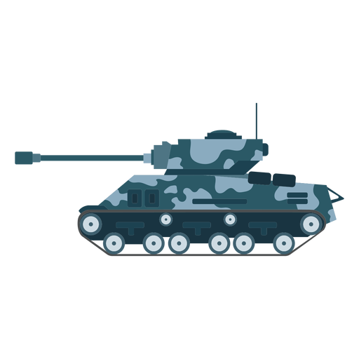 Tank fighting vehicle side view Transparent PNG