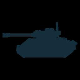 Silhueta de veículo de combate tanque