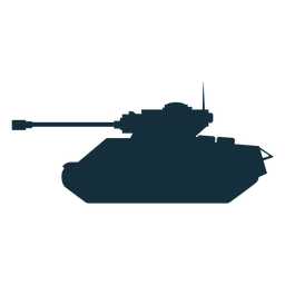Tank fighting vehicle silhouette