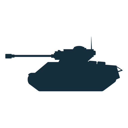 Tank fighting vehicle silhouette Transparent PNG