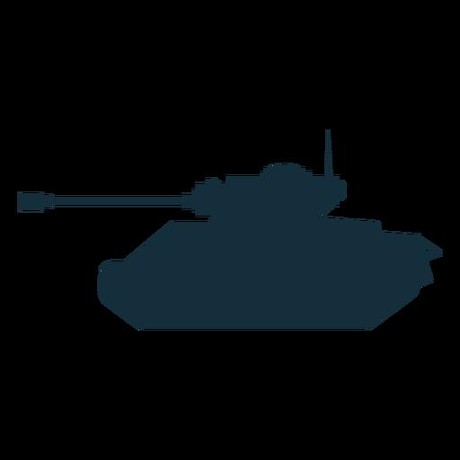 Tank fighting vehicle silhouette