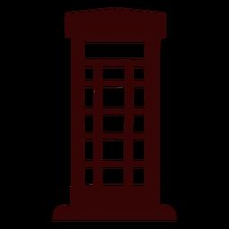 Silueta de cabina telefónica