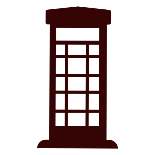 Telephone box silhouette Transparent PNG