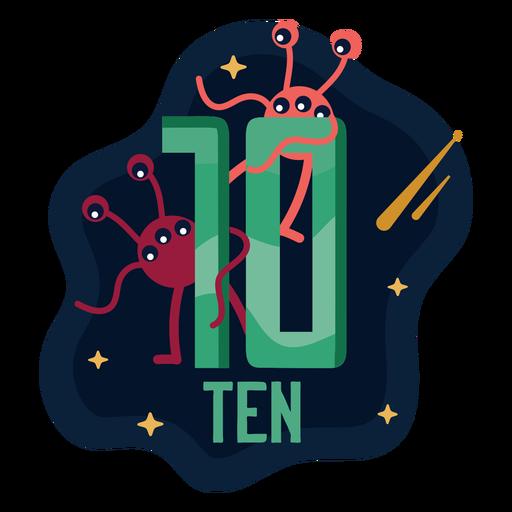 Ten alien eyes number