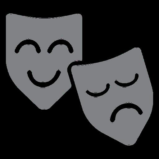 Theater masks flat icon