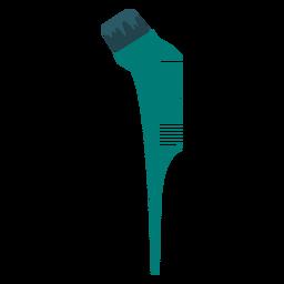 Icono de peine de pincel teñido