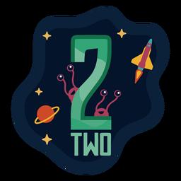 Número de dos extraterrestres