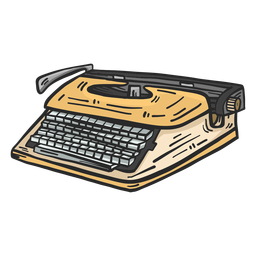 Typewriter colored clipart