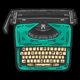 Schreibmaschine Draufsicht farbige Clipart