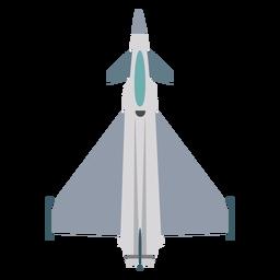 Typhoon Flugzeug Draufsicht Symbol