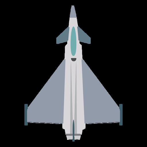 Icono de vista superior de avión Typhoon