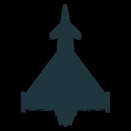 Silhueta de vista superior de aeronaves Typhoon