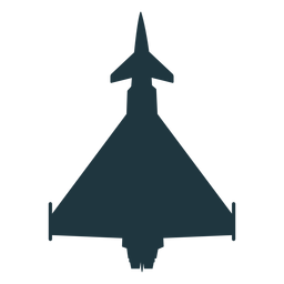 Typhoon aircraft top view silhouette