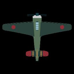 Icono de vista superior de aviones vintage